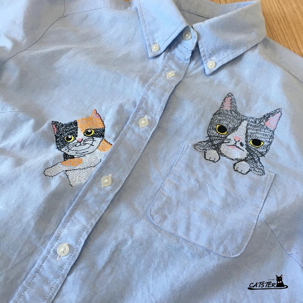 จักรปักเสื้อลายแมว